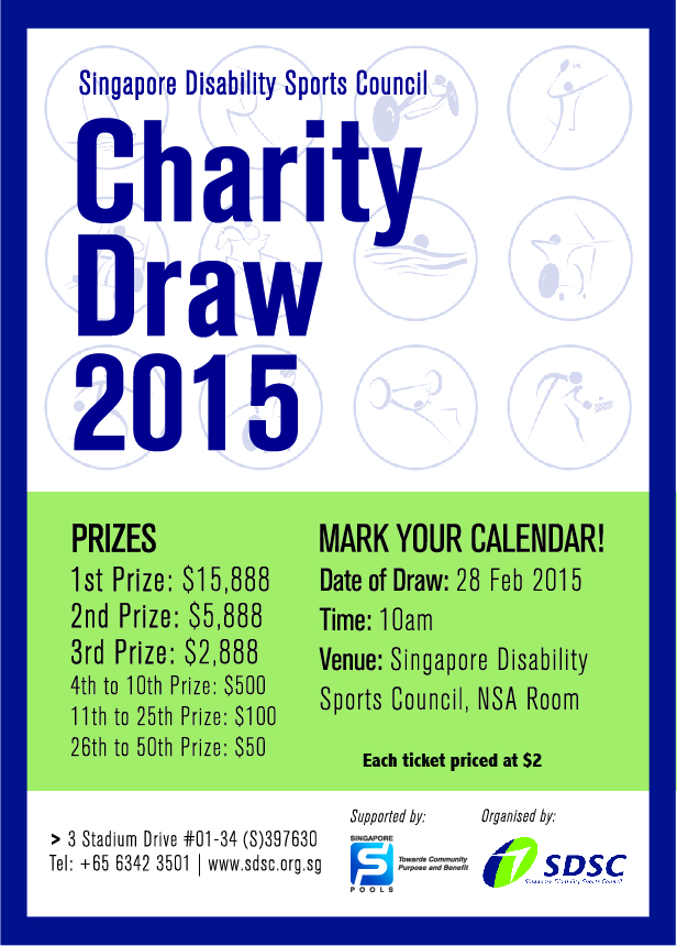SDSC Charity Draw 2015 poster