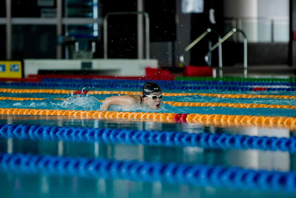 Sophie Soon swimming at the SDSC Swimming Time Trial 2020